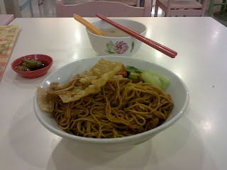 Pontian famous wanton noodle with fried wanton