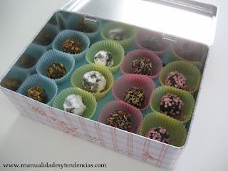 Idea regalo para amantes del chocolate: trufas / Chocaholic Gift idea: truffle / Idée cadeau: truffe