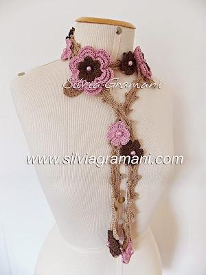 crochê, flores de croche