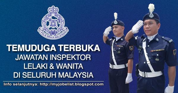 Jawatan Kosong Inspektor Polis (PDRM) 2015