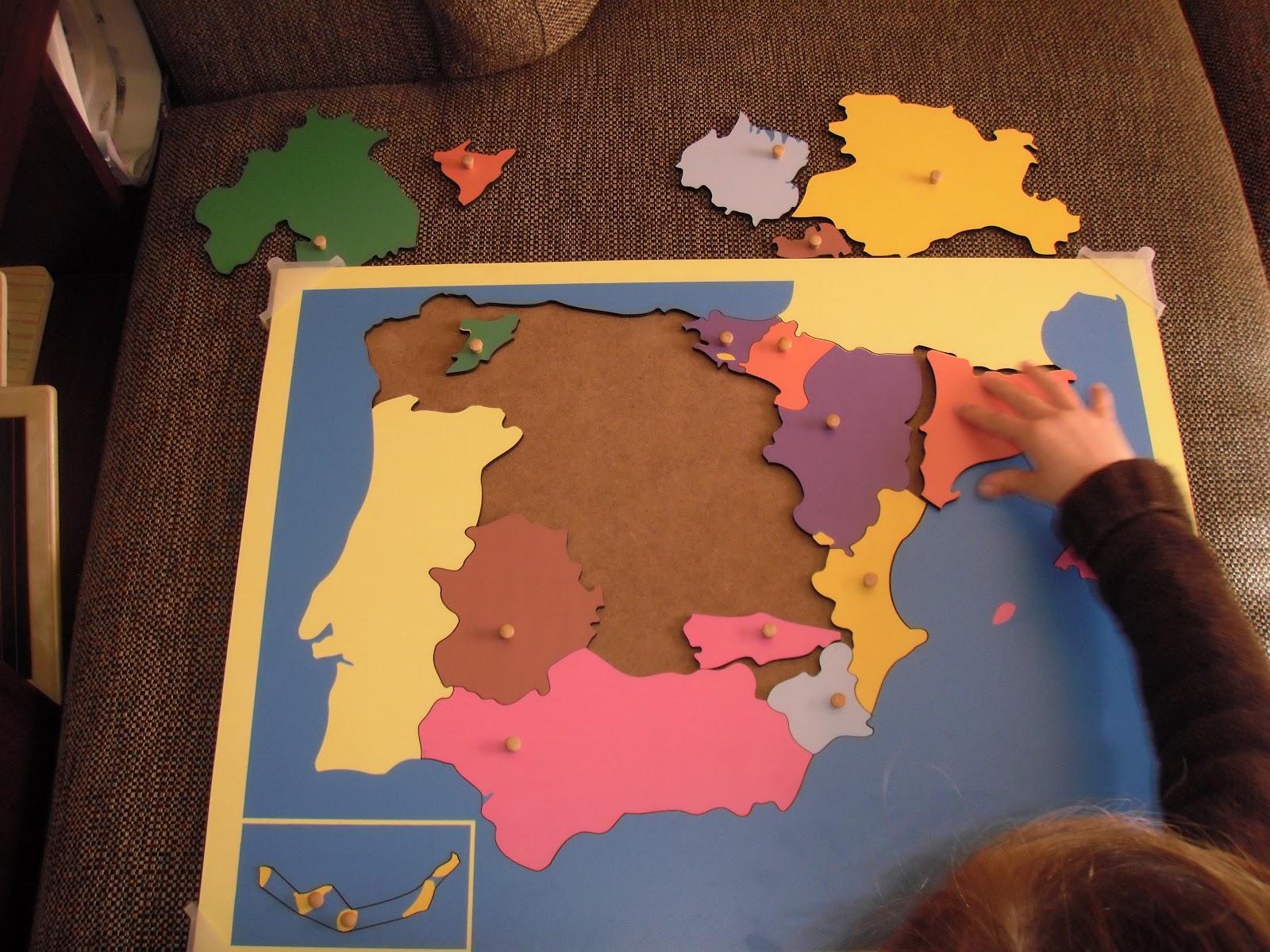 Mapa de espa a por comunidades aut nomas montessori mar del sur - La casa del puzzle madrid ...