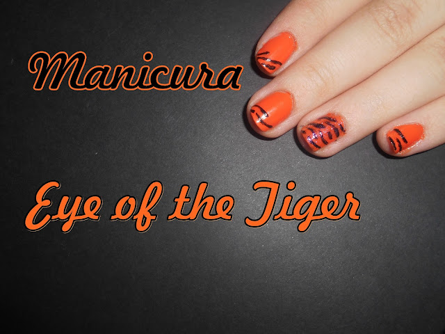 Manicura Eye of the Tiger  Tiger Nail Art Tutorial / Tutorial Manicura Tigre