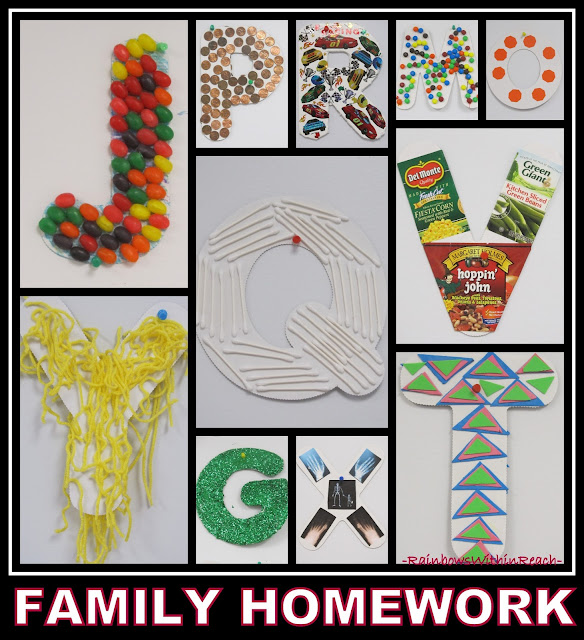 photo of: Alphabet Homework via RainbowsWithinReach