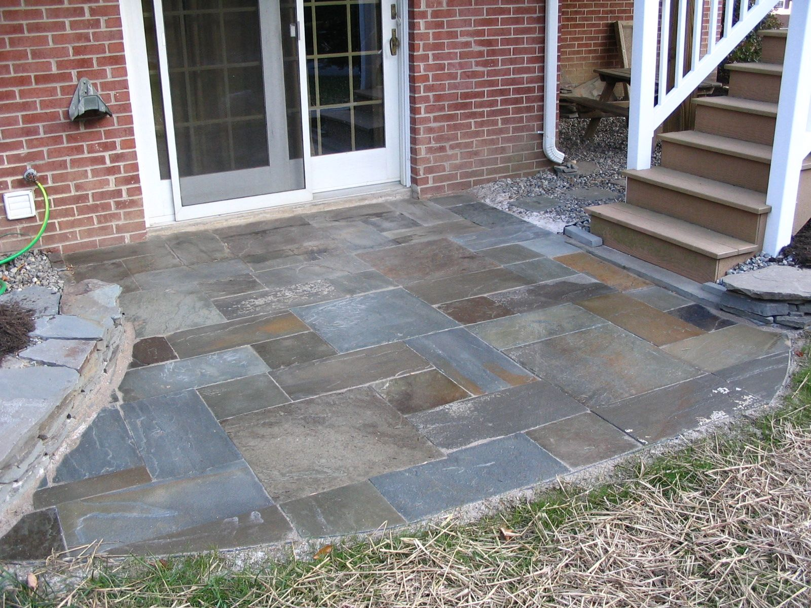 Rockin walls how to pa blue stone spacing for Bluestone porch