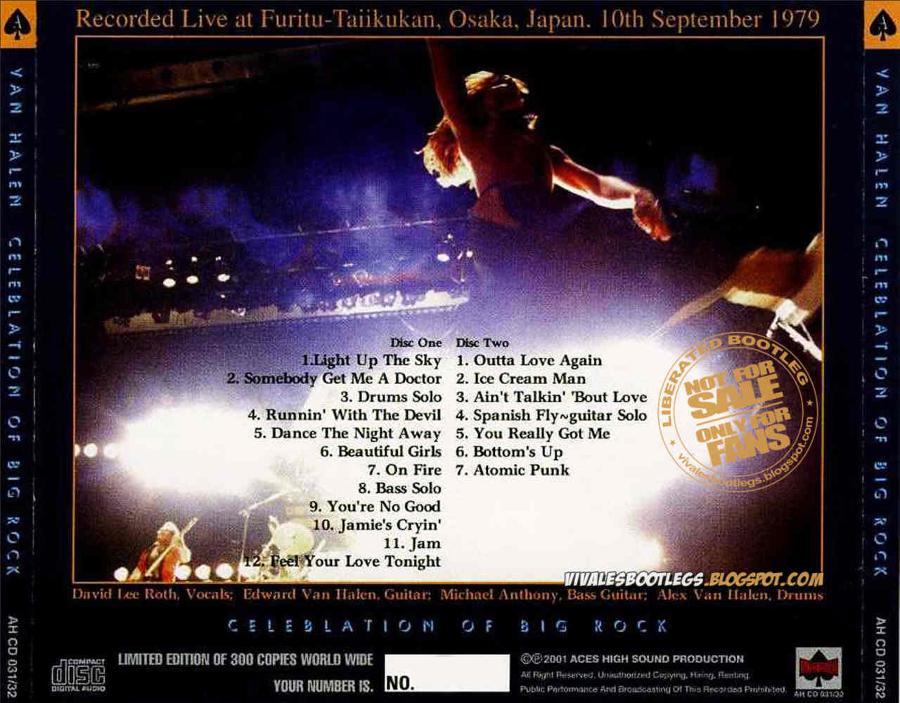 Van Halen - Osaka - 1979 / Paris - 1978