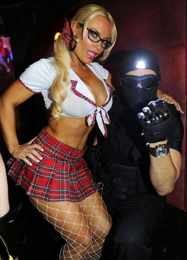 Coco Austin'with Ice T in Halloween Costume