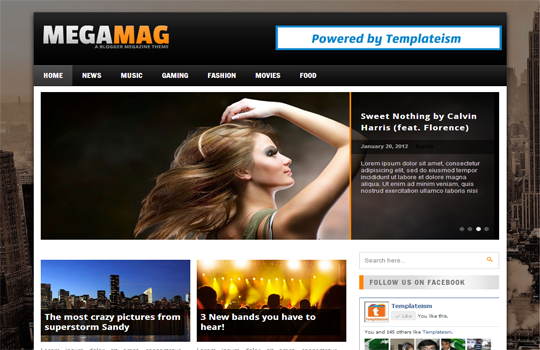 MegaMag Blogger Template Big Preview