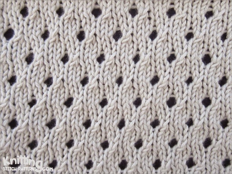 Eyelet Lace Scarf Knitting Pattern : Knitting Stitch Patterns
