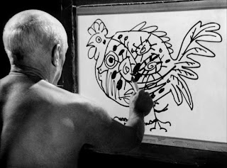 A still from Le mystère Picasso