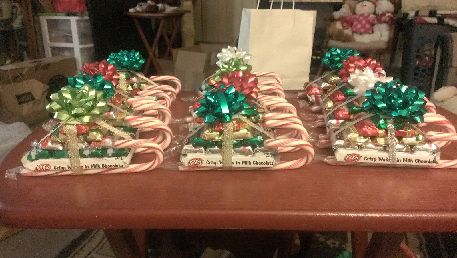 christmas candy sleigh treats - Candy Sleighs For Christmas
