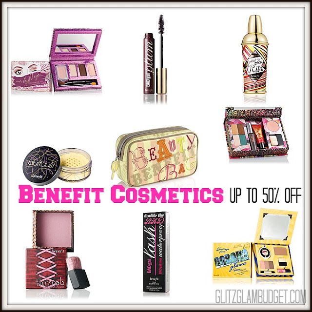 Saleabrate! Up to 50% off Benefit Cosmetics!