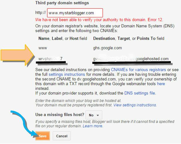 set custom domain