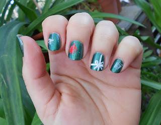 #Manicura-verde-navidad