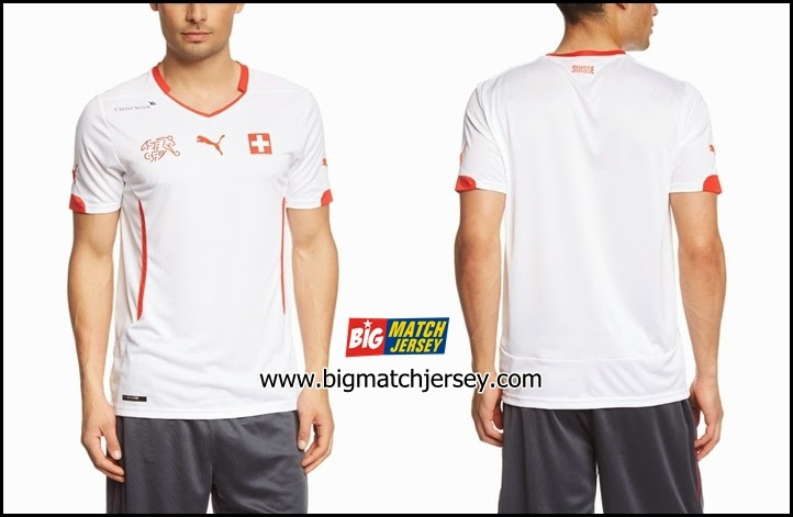 Jersey Swiss Away Piala Dunia 2014 Grade Ori Official World Cup