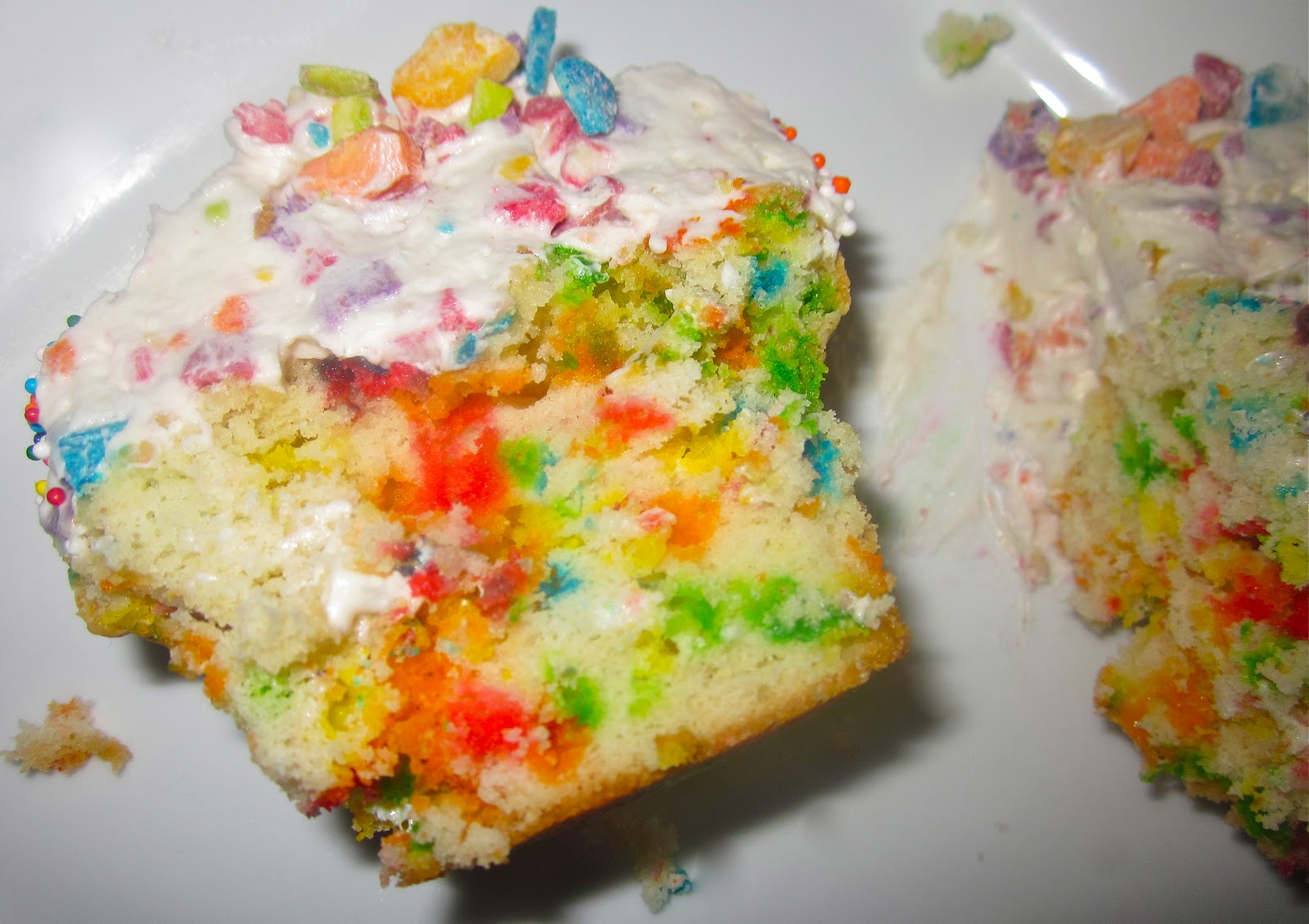 Homemade Funfetti Cupcakes with Whipped Rainbow Chip Buttercream