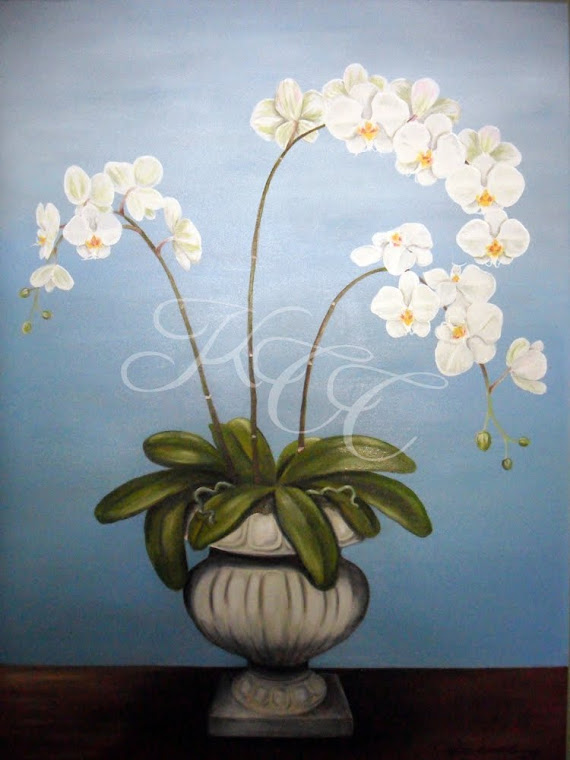 """Orchids in Urn"""
