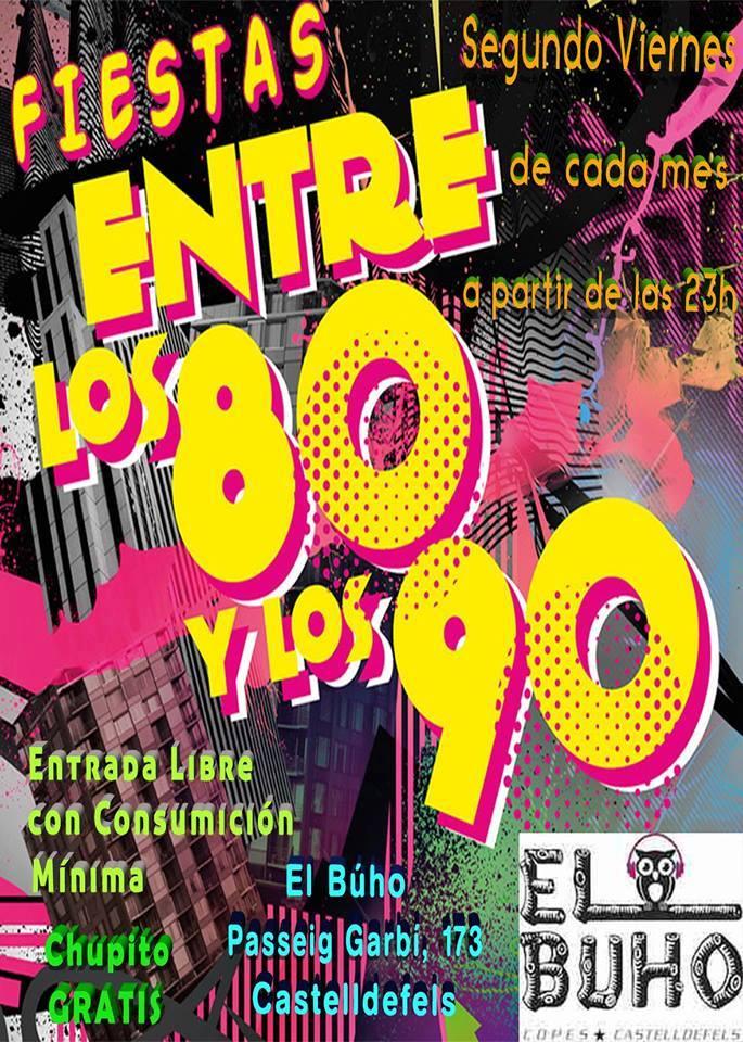 Flyer Fiesta De Los 80 y Los 90