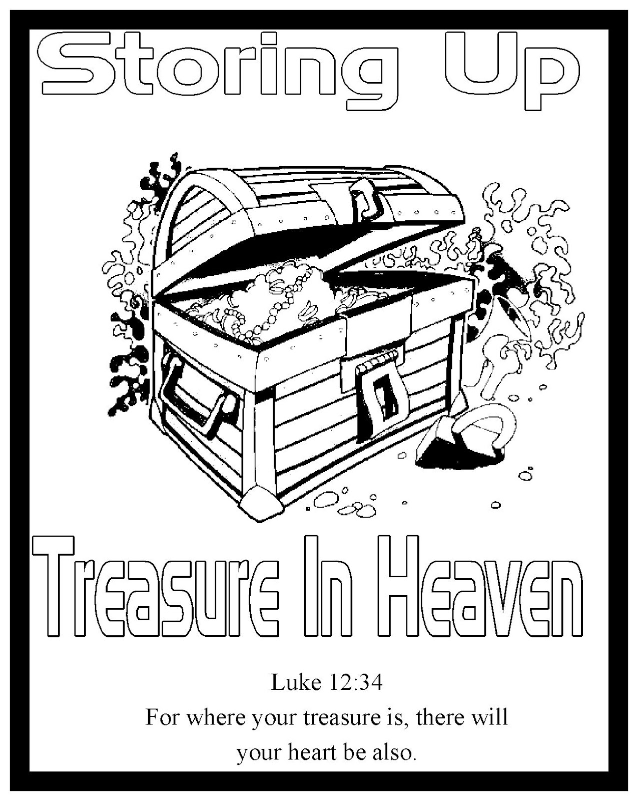 Free parable of the hidden treasure coloring pages for Parable of the rich fool coloring page