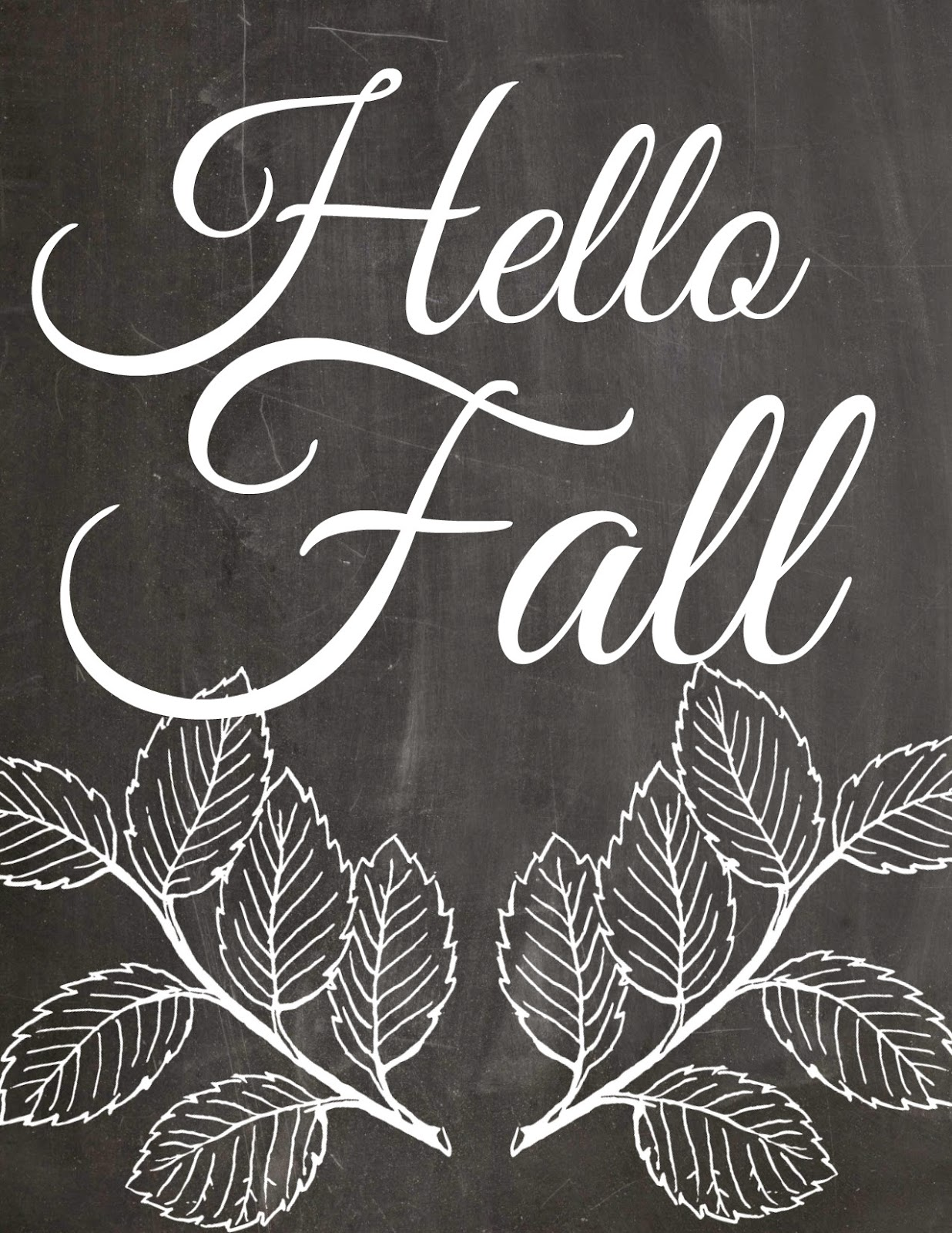 Hello Fall FREE Printable by Orchard Girls Blog