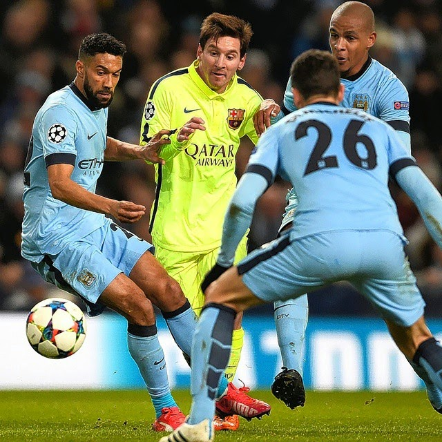 Manchester City Vs Fc Barcelona UCL 2014-2015
