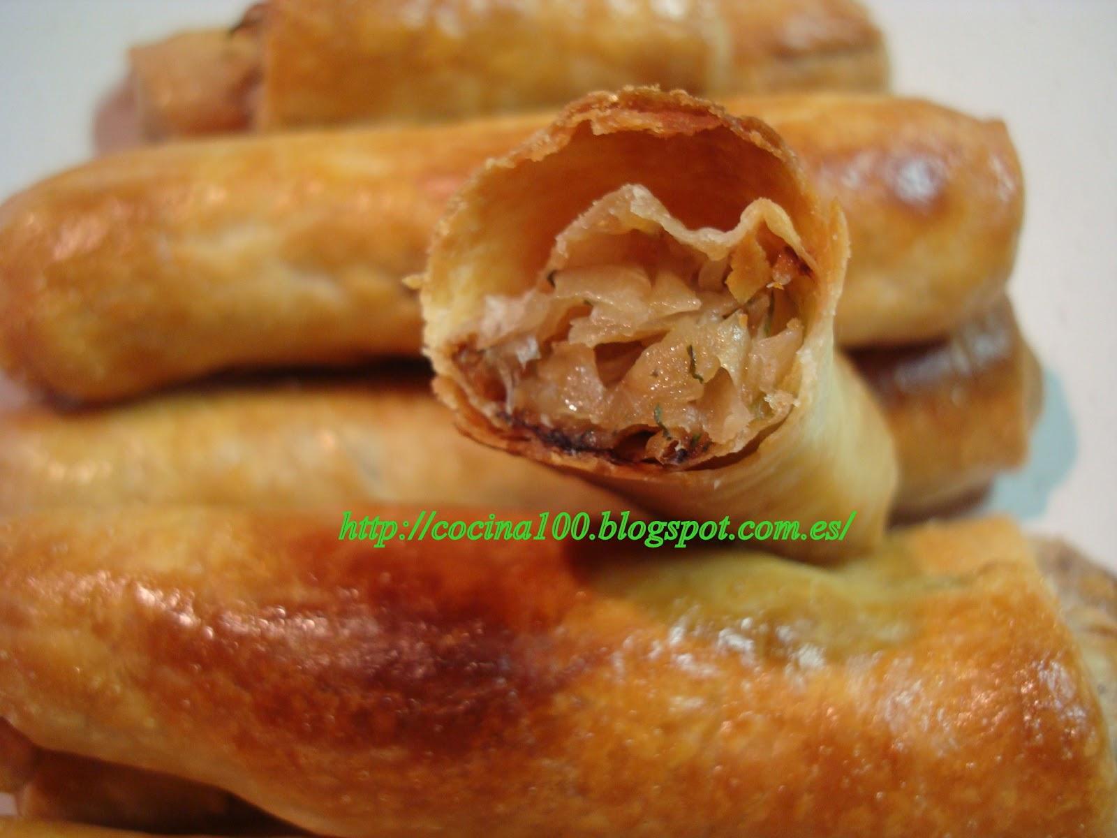 Пирожки сигаретки с капустой рецепт