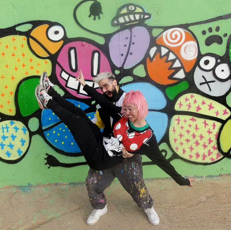 Berok graffiti mural profesional en barcelona graffiti for Graffitis para ninos