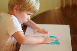 Squeezable Homemade Finger Paint