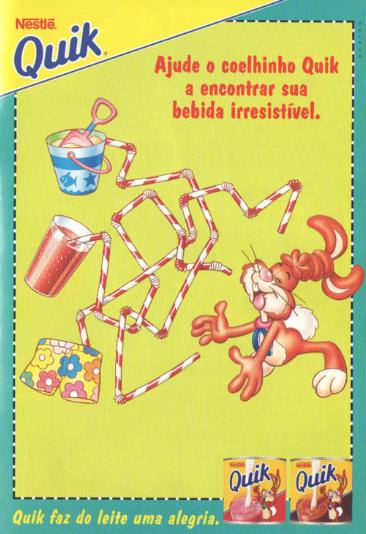 Propaganda de Gibi do Quik da Nestlé, em 1996.