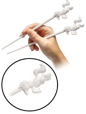 The Ultimate Fun Foodie-Friendly Gift List - Unicorn Horn Chopsticks