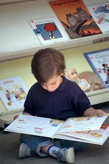Espaço para leitura e brincadeira
