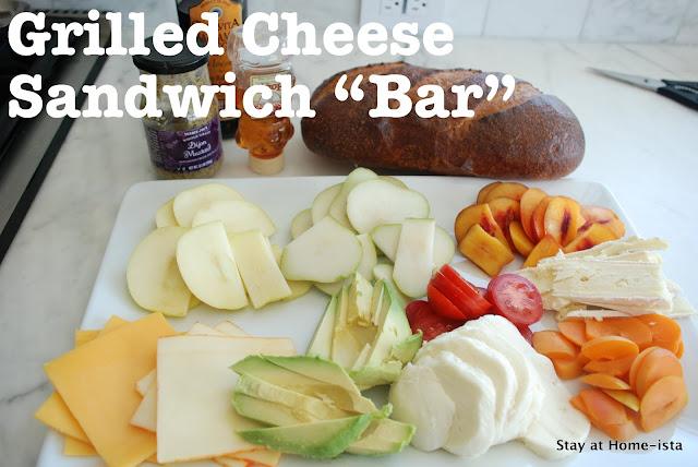 Grilled cheese sandwich bar