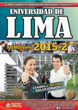 Examen U de Lima 19 Julio 2015