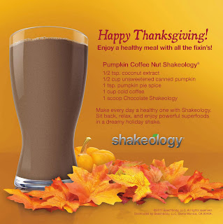 Holiday Healthy Shakeology Recipe, Pumpkin Shakeology Recipe