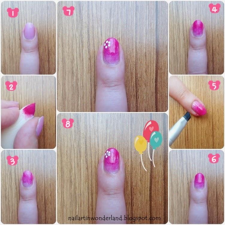 Gradient nail art tutorial