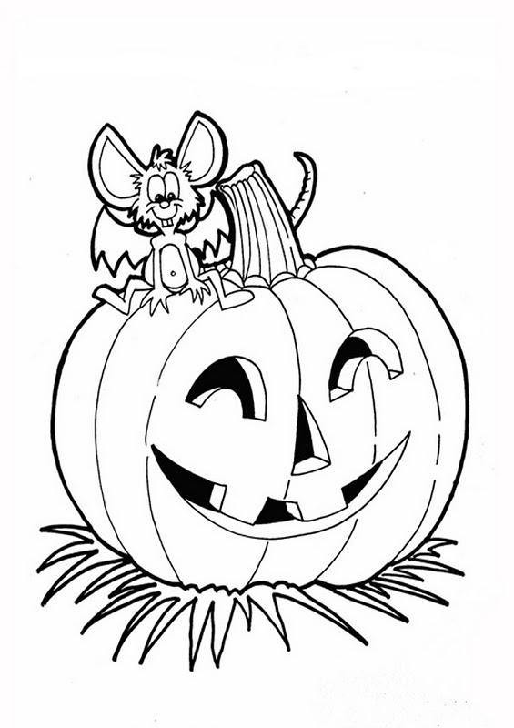 El rinc n de los peques dibujos para colorear de halloween - Calabazas halloween para imprimir ...