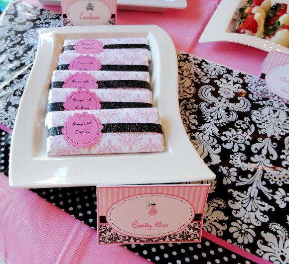barbie+pink+black+glam+party+ideas+party+desserts+table+party ...