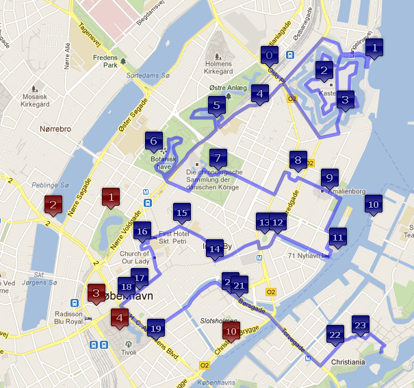 Btech Android Projects Android city tour guide system based on – Copenhagen Map Tourist