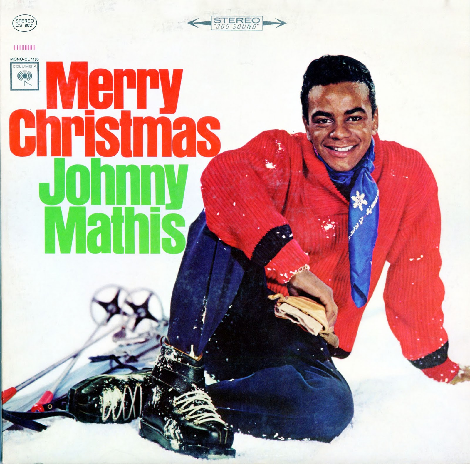 merry christmas johnny mathis columbia records 1959 reissued with new cover artwork