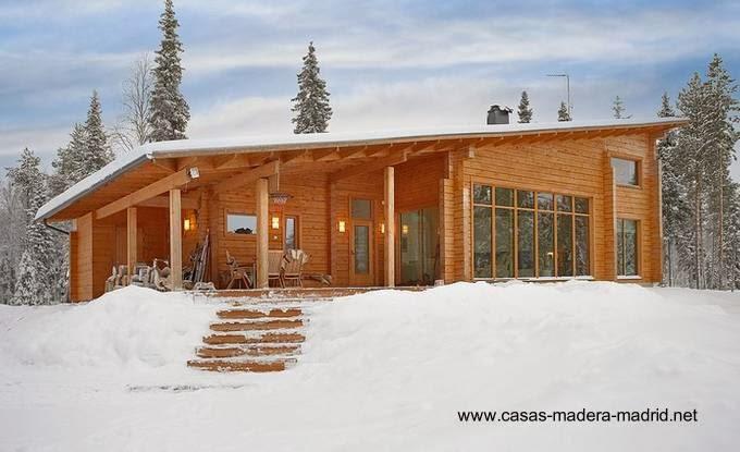 Arquitectura de casas chalets n rdicos construidos de - Cabanas de madera en madrid ...
