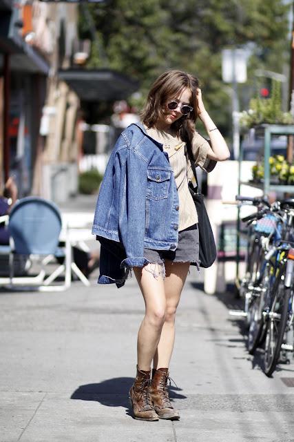 Sophia Linesman Lambs Ear Illesteva Sunglasses Seattle Street Style Justin Boots