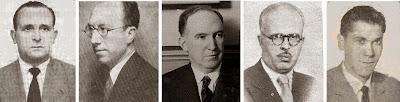 Algunos protagonistas del II Torneo Internacional de Ajedrez Madrid 1957