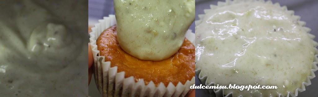 cupcake Dulcemisu reposteria creativa, sin azucar, sin gluten, nuez, platano