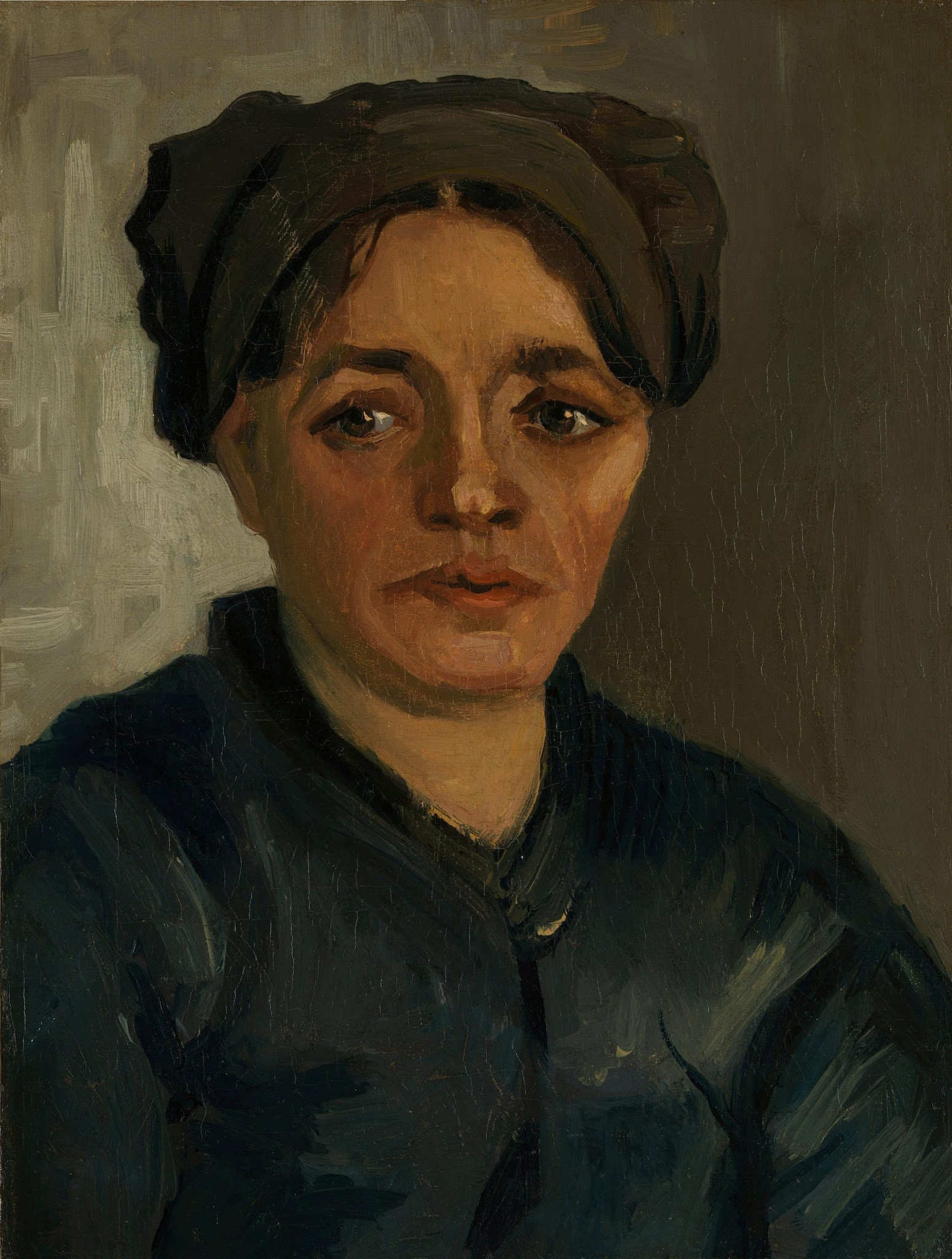 Head of a Peasant Woman with Dark Cap (F 137, JH 593) by Vincent van Gogh