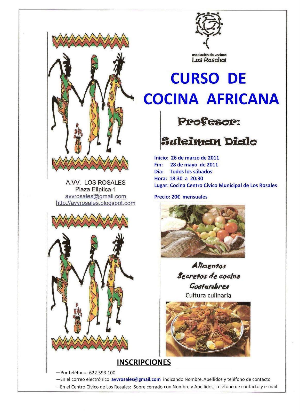 A vecinal cultural y deportiva los rosales inscripci n for Curso de cocina para solteros