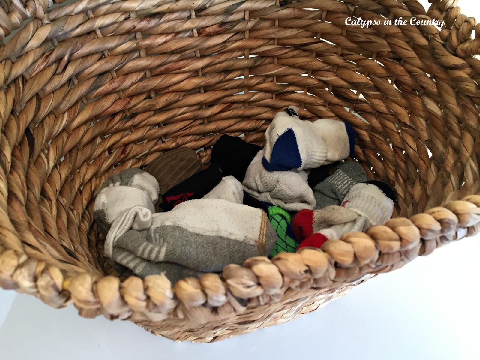 Basket of socks
