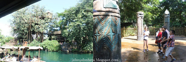 jungle river cruise dan liki tikis disneyland