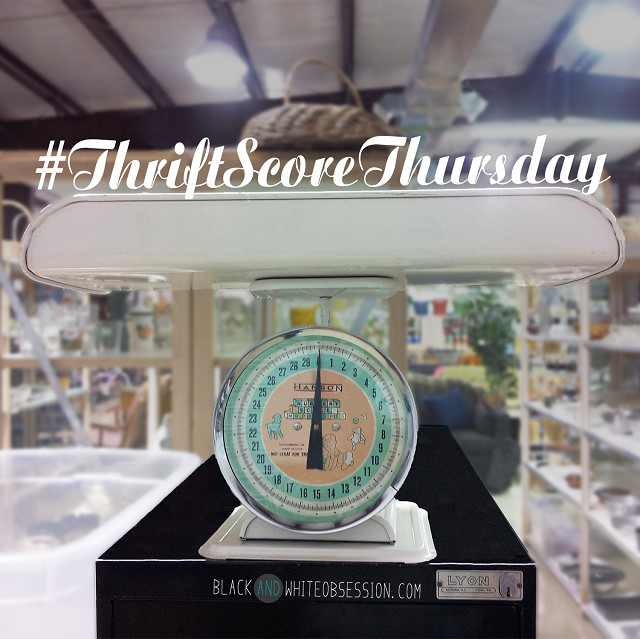 #thriftscorethursday Week 6 Vintage Hanson Nursery Scale | www.blackandwhiteobsession.com