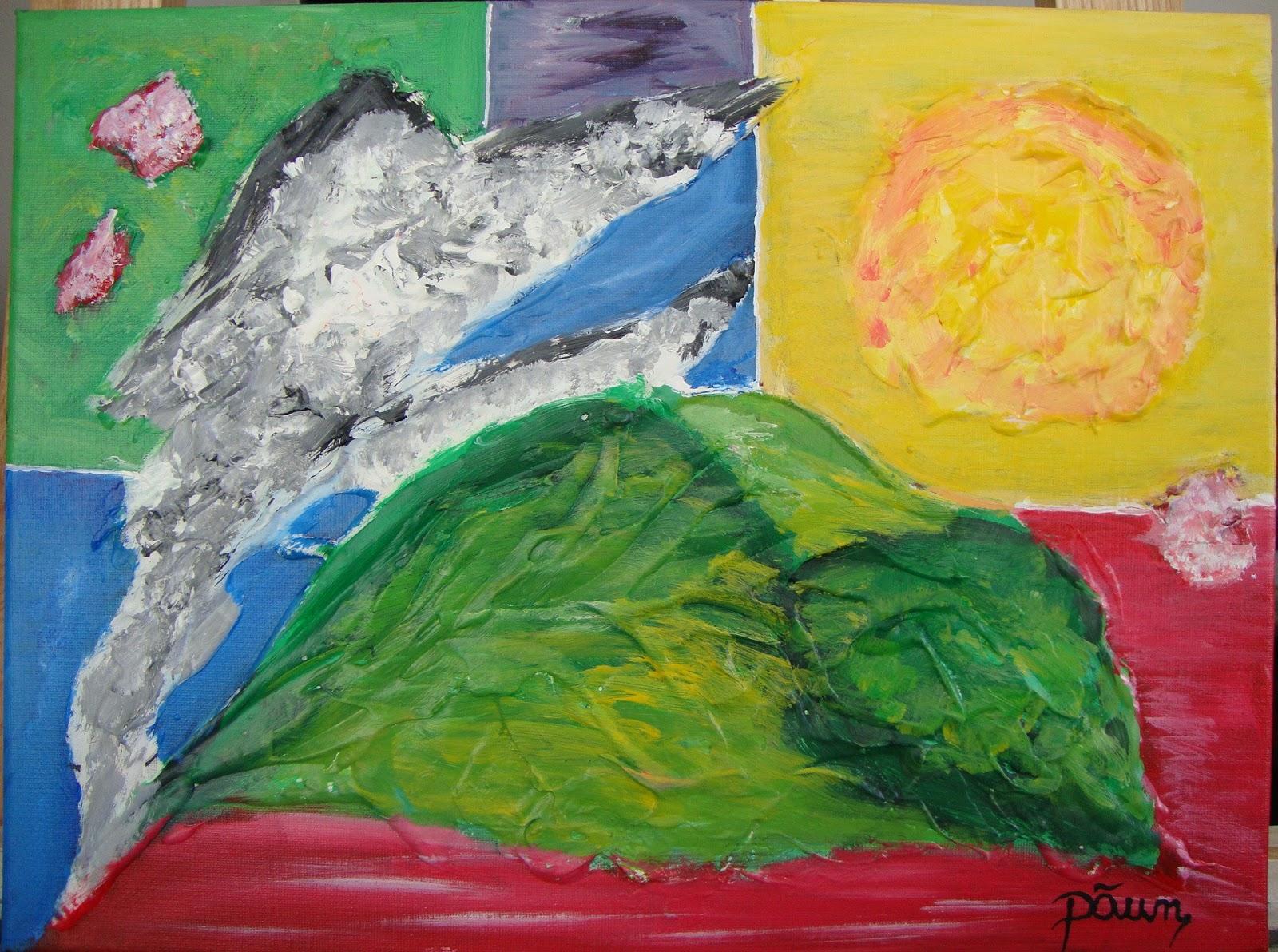 Paun art cuadro de colores abstracto decoracion 30 x - Cuadros abstractos paso a paso ...