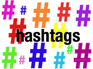 image full of hashtags