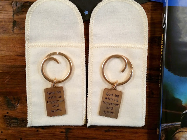 Need a gift for your husband? This Mizpah Key Chain Set from James Avery is perfect!